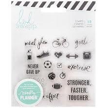 Heidi Swapp Memory Planner Clear Stamps - Fresh Start Exercise UTGÅENDE
