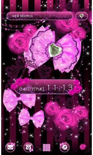 かわいい壁紙・アイコン-Lady in Pink-無料