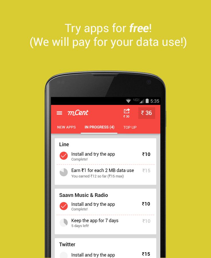 mCent - Free Mobile Recharge- screenshot