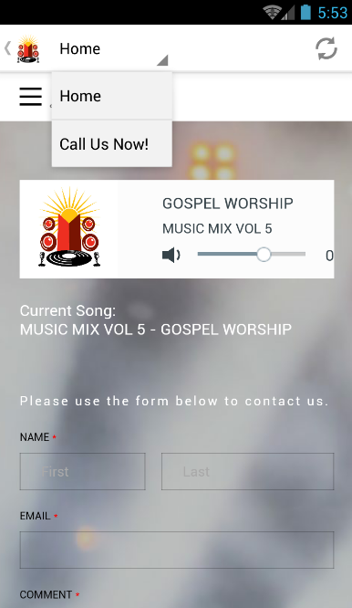 Gospel Radio Guyana- screenshot