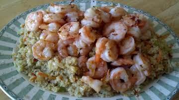 Shrimp Scampi over Quinoa Pilaf