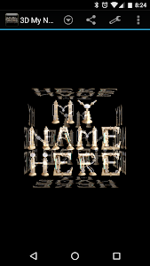 3D My Name Steampunk Fonts LWP screenshot 1