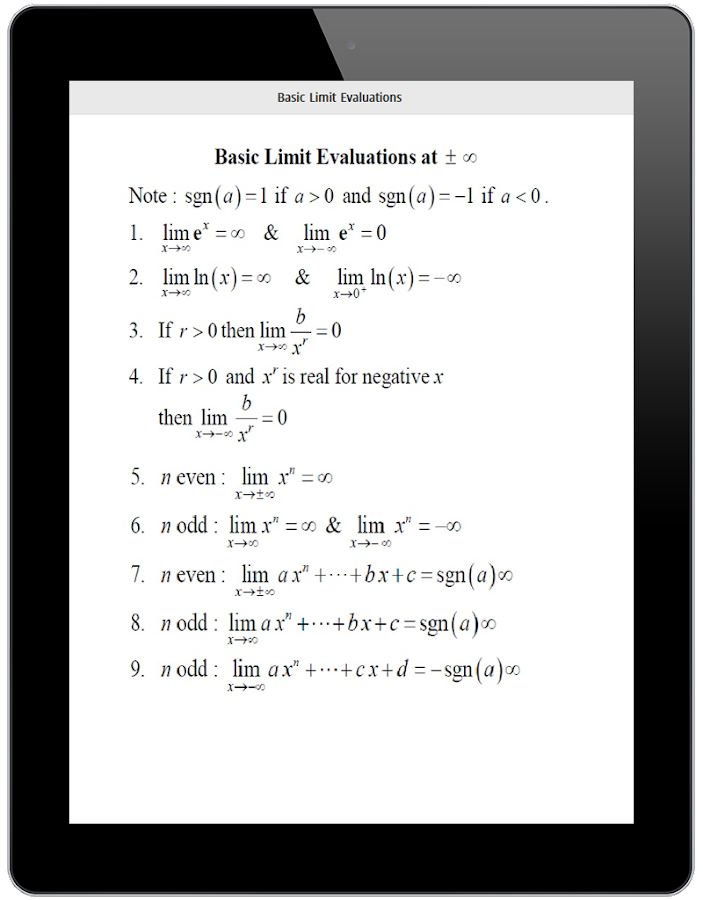 Screenshots of All Math Formula for iPhone