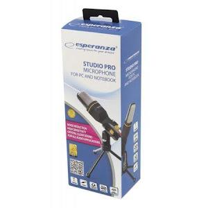 Microfon Esperanza StudioPRO cu mini trepied, conector jack