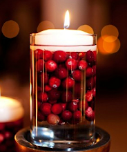 Photo: ''Thanksgiving''   Image: Floating Candle and Cranberries