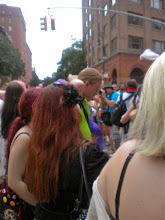 Photo: Gay pride festivities, Greenwich and West 10 streets, Greenwich Village, 26 June 2011. (Photograph by Elyaqim Mosheh Adam.)