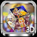 Visnu 3D cube live wallpaper icon