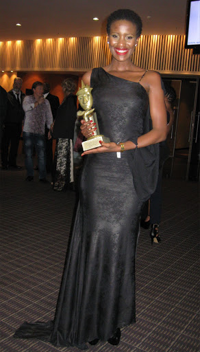 Masasa Mbangeni won Outstanding Lead Actress for her role in 'Scandal' at the Royalty Soapie Awards in Durban in 2015.