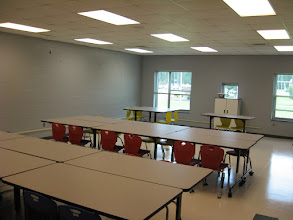 Photo: Cafeteria Arrangement.  Great for card and board games!