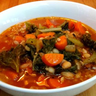 White Bean and Greens Vegetable Soup Recipe