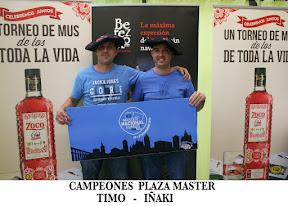 Timoteo Echeverria y Iñaki Echeverria, Campeones del II TORNEO POUKHA`S  MASTER 2016
