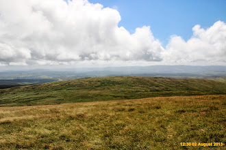 Photo: Looking left and south from east ridge of Fan Gyhirych, direct route to Fan Fraith