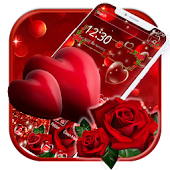 Beautiful Red Heart Love Theme Android APK Download Free By Fancy Theme Palace