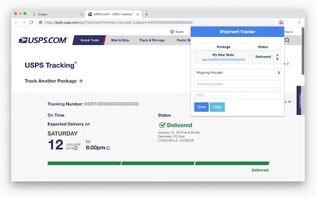 Shipment Tracker - Package Tracker - سوق Chrome الإلكتروني