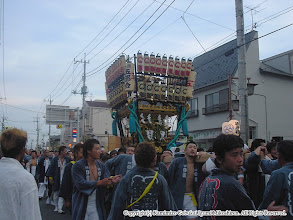 Photo: 【平成16年(2004) 本宮】 夕暮れの上溝商店街を進む。