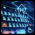 3D Blue Neon Future Keyboard Theme download
