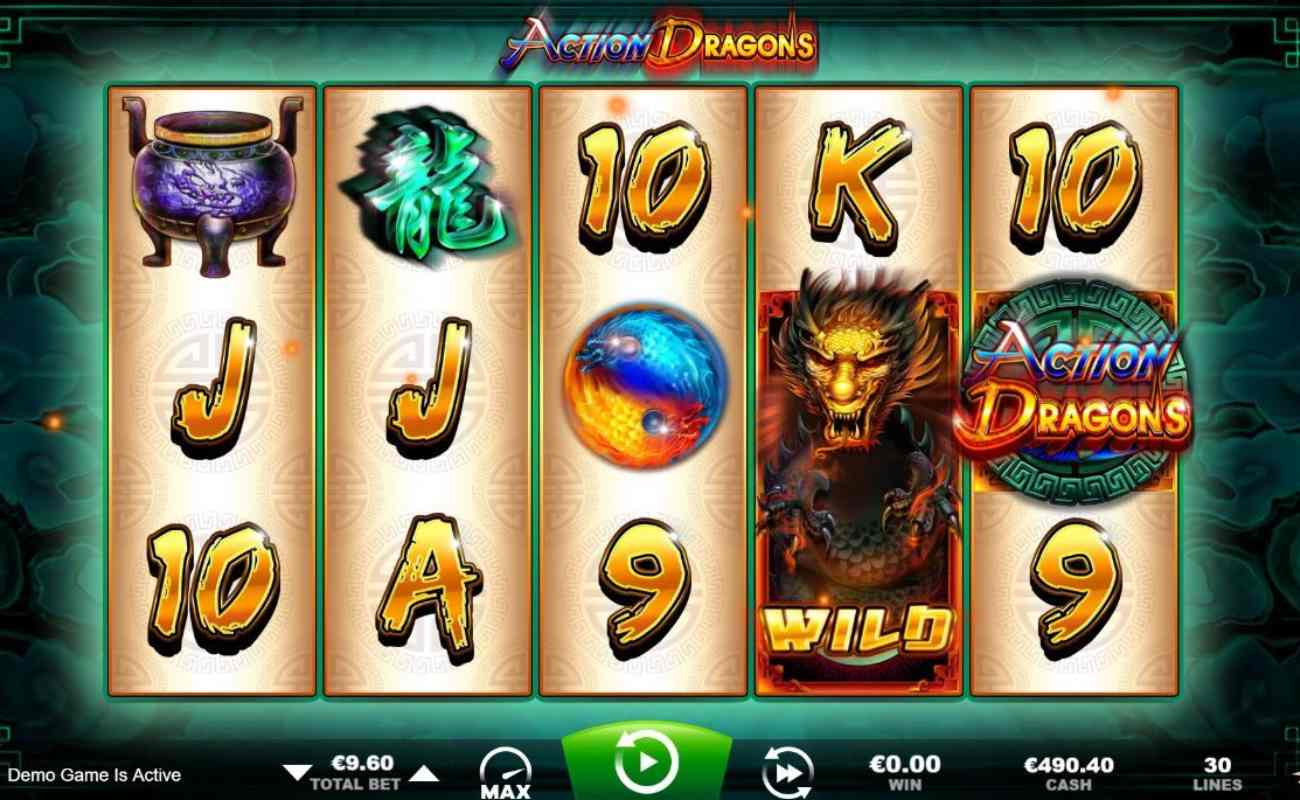 Action Dragons by Ainsworth online slot casino game