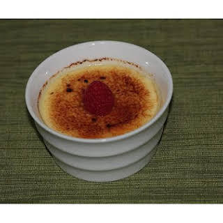 Green Tea Creme Brulee.
