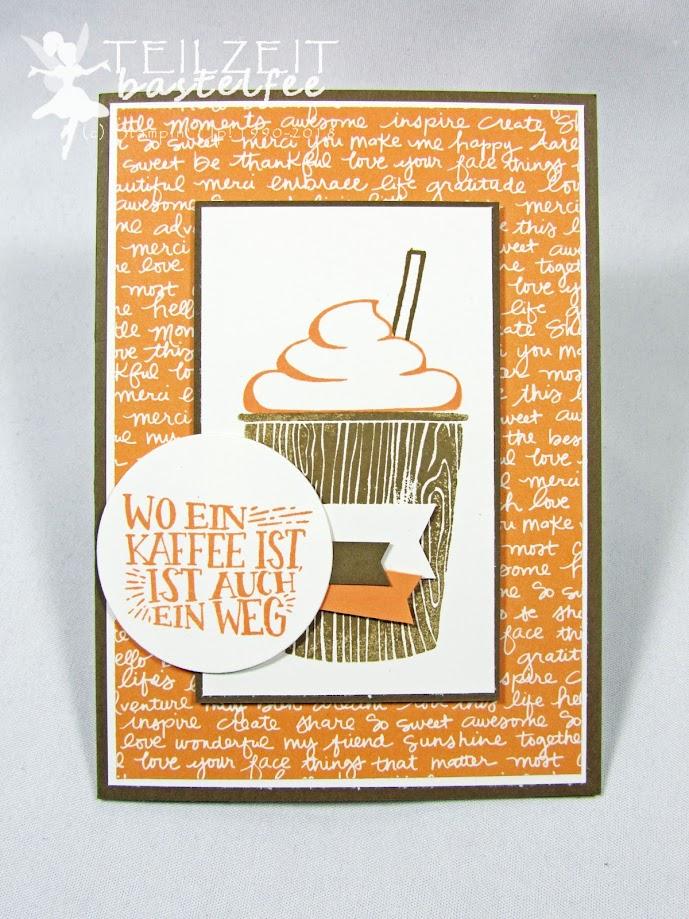 Stampin' Up! – In{k}spire_me #336, Sketch Challenge, Kaffee Olé, Coffee Café, Framelits, Abgehoben, Lift Me Up, Heißluftballon, Petal Passion Designer Series Paper