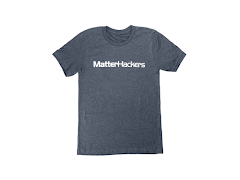 MatterHackers Printed Heather T-Shirts Navy Heather Large