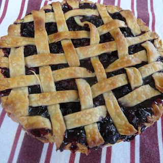 Simple, Very Blueberry Flavored Pie.