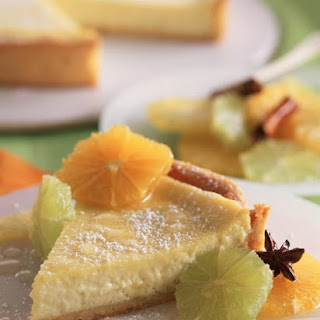 Lime Mascarpone Tart with Fresh Citrus Salad.