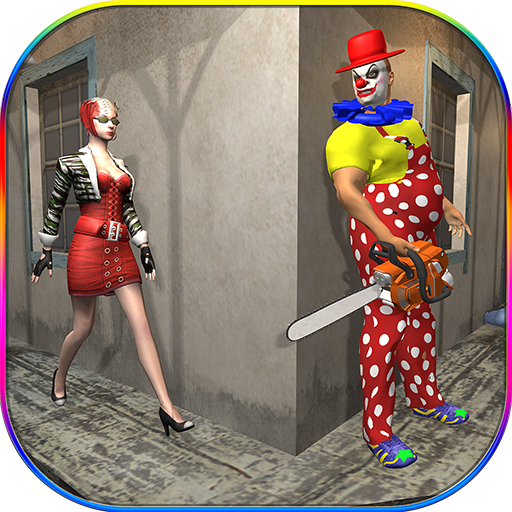 Killer Clown Attack Crime City Creepy Pranks Sim