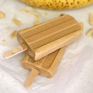 Peanut Butter Banana Popsicles.
