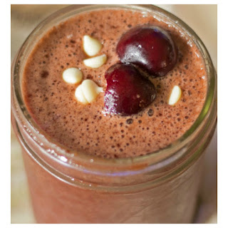 Healthy Cherry Chocolate Smoothie.
