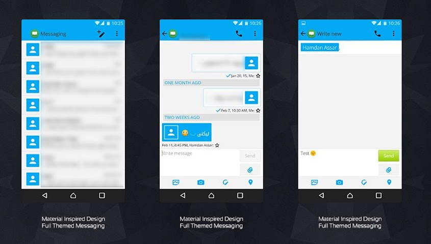 android MaTeRiaL Blue Theme KK Screenshot 4