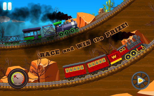 Western Train Driving Race screenshot 3