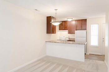 Go to Two Bed, One Bath Townhouse Renovated Floorplan page.