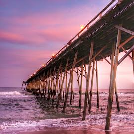 Sunset pier by Debra Graham - Landscapes Beaches ( sunset pier,  )