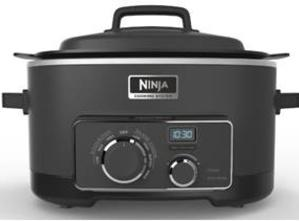 One Ninja Cooking System or a large skillet & casserole dish will work too.