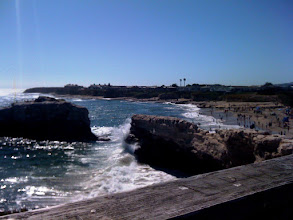 Photo: After going through the mountains, we made it to Santa Cruz! This is some famous rock, I think.