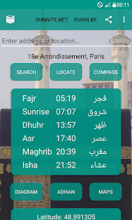 Islamic Prayer Times Qibla Salat Locator – Miniaturansicht des Screenshots
