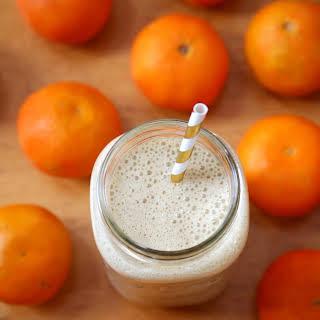 Vanilla Clementine Protein Smoothie.