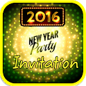 New Year Party Invitation 2016 icon