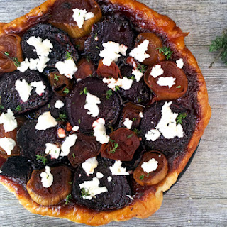 Beetroot, Shallot and Goat Cheese Tatin [vegetarian]