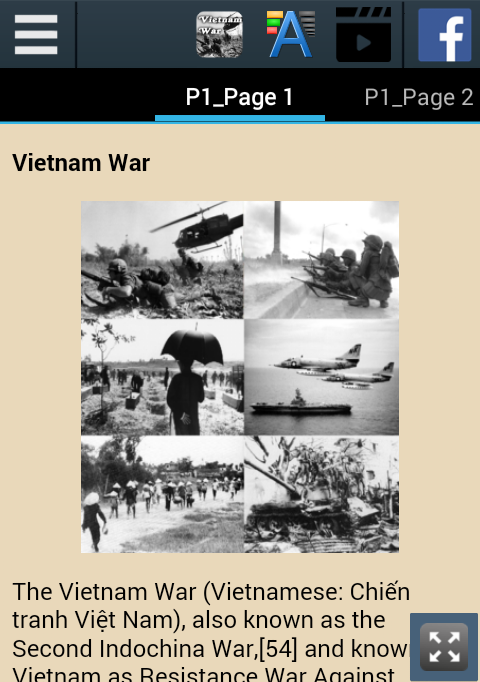 Vietnam War History- screenshot