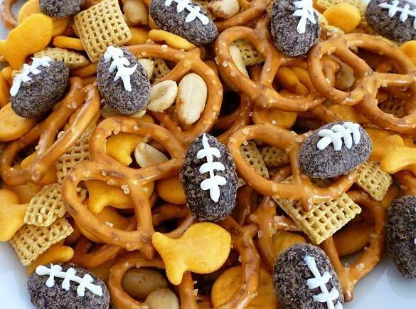Chocolate Football Snack Mix Recipe