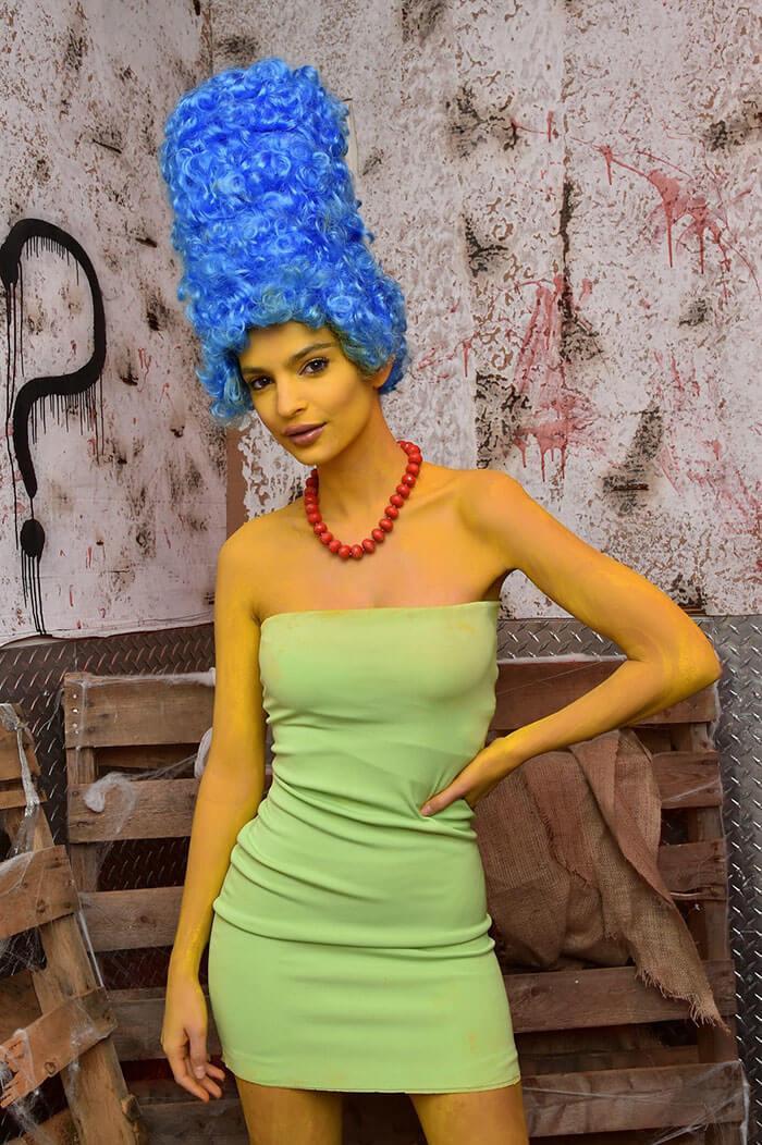 Emily Ratajkowski As Marge Simpson