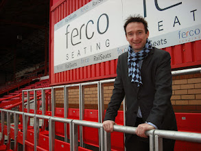 Photo: John Leech, then MP and Liberal Democrat Spokesman on Culture, Media and Sport at Ashton Gate, 2014