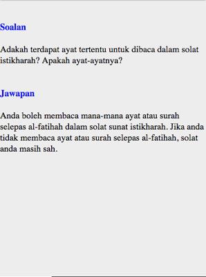Cara Solat Istikharah - screenshot