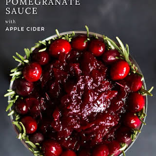 Cranberry Pomegranate Sauce with Apple Cider.