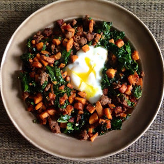 Basic Paleo Sweet Potato Sausage Breakfast Hash