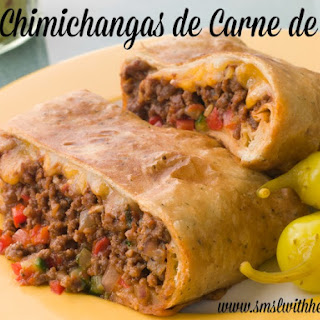 Chimichangas de Carne de Res (Shredded Beef Chimichangas )