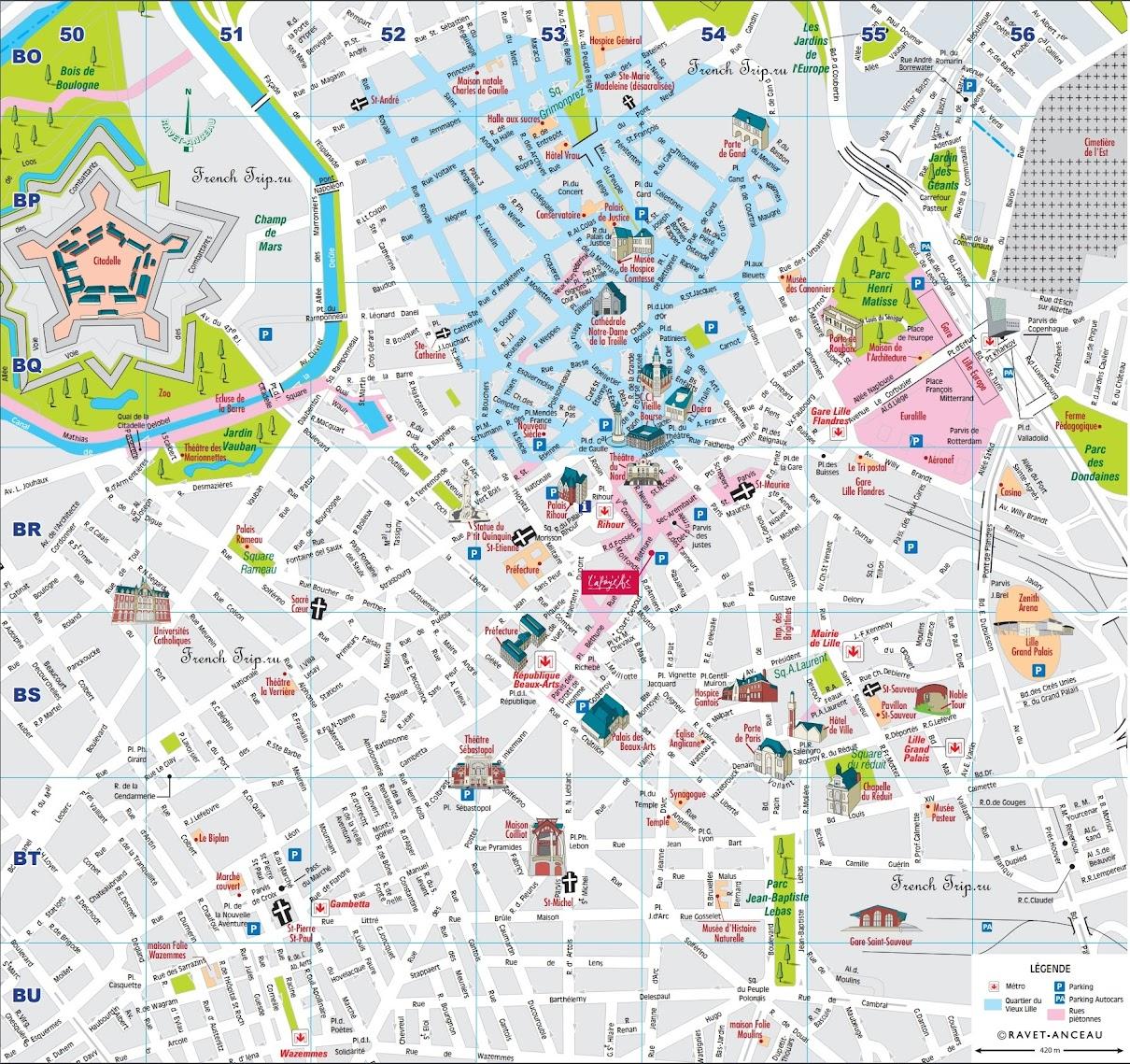 Туристическая карта Лилля с отмеченными достопримечательностями города - Туристическая карта Лилля (Lille) с отмеченными достопримечательностями. Что посмотреть в Лилле, путеводитель по городу Лилль, Франция. Города Франции, Франция, самые красивые города Франции, что посмотреть во Франции, северная Франция, Лилль, город Лилль, Лилль Франция, что посмотреть в Лилле, достопримечательности Лилль, путеводитель по городу Лилль