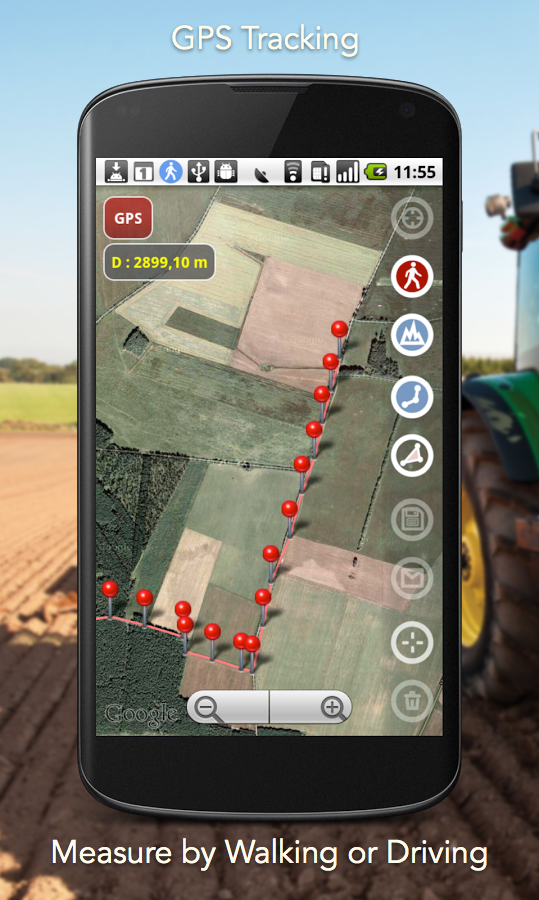 Planimeter - GPS area measure screenshot #4