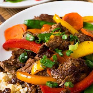 Beef Teriyaki and Vegetables.